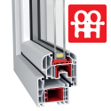 Kunststofftür | 80 x 210 cm (800 x 2100 mm) | weiß | Balkontüren | Dreh-Kipp | rechts | 5 Kammern