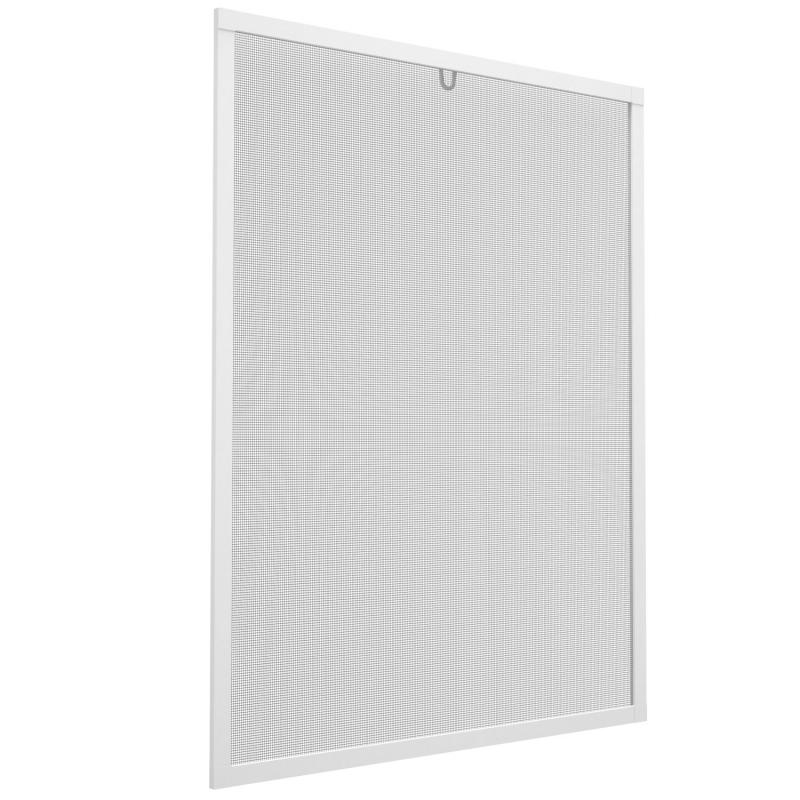 Insektenschutz-Spannrahmen aus Aluminium für Fenster   130x150 cm   weiß