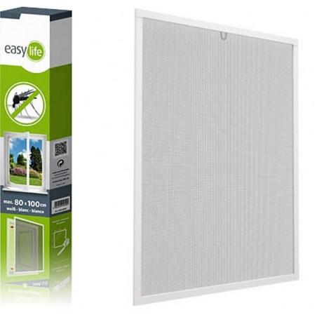 Insektenschutz-Spannrahmen aus Aluminium für Fenster, 130x150 cm, weiß