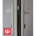 Kunststofftür   90x205 cm (900x2050 mm)   weiß   voll   rechts
