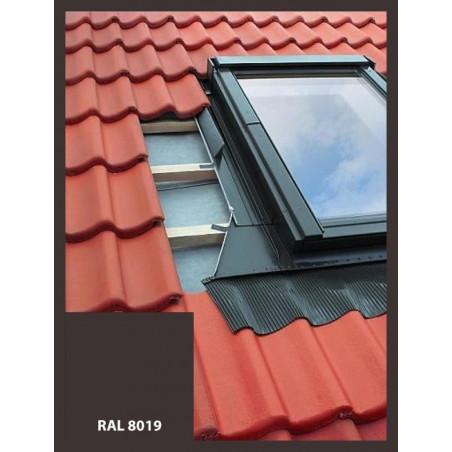 Eindeckrahmen für Dachfenster, Dachausstieg | 55x78 cm (550x780 mm) | braun | für Profil Bedachung