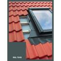 Eindeckrahmen für Dachfenster   78x118 cm (780x1180 mm)   grau   für Profil Bedachung