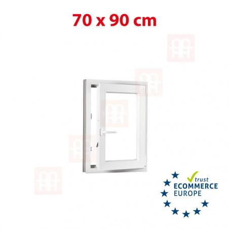 Kunststofffenster | 70x90 cm (700x900 mm) | weiß | Dreh-Kipp-Fenster | rechts