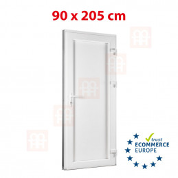 Nebeneingangstür  | 90x205 cm (900x2050 mm) | weiß | Füllungsplatte 24 mm | rechts