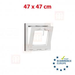 Kunststofffenster | 47x47 cm (470x470 mm) | weiß | Kipp-Fenster