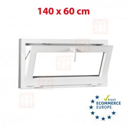 Kunststofffenster | 140x60 cm (1400x600 mm) | weiß | Kipp-Fenster