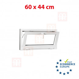 Kunststofffenster | 60x44 cm (600x440 mm) | weiß | Kipp-Fenster