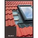 Eindeckrahmen für Dachfenster | 78x98 cm (780x980 mm) | braun | für Profil Bedachung