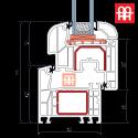 Kunststofffenster | 60x80 cm (600x800 mm) | weiß |dreh-kipp | links | 6 Kammern
