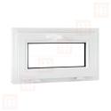 Kunststofffenster   120x70 cm (1200x700 mm)   weiß   Kipp-Fenster   6 Kammern