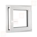 Kunststofffenster | 80x80 cm (800x800 mm) | weiß | Dreh-Kipp-Fenster | rechts | 6 Kammern