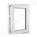 Kunststofffenster   60x100 cm (600x1000 mm)   weiß   Dreh-Kipp-Fenster   rechts   6 Kammern