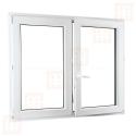 Kunststofffenster   150x120 cm (1500x1200 mm)   weiß   Zweiflügelige ohne Pfosten   rechts   6 Kammern